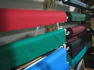 Seguin pool table recovering table cloth colors